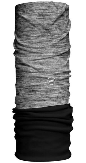 HAD Solid Stripes Fleece Halsbedekking grijs/zwart